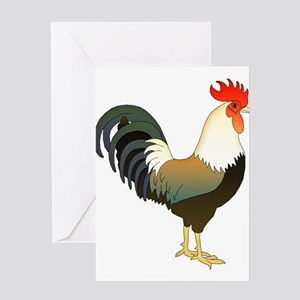 Rocking Rooster Greeting Cards