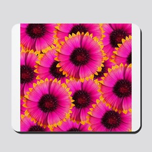 Bright Orange and Pink Flower Mousepad