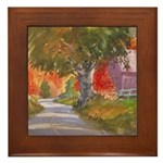 Fall in Brandywine Framed Tile