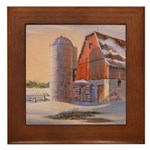 Winter's Harvest Framed Tile