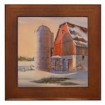 Winter's Harvest Framed Tile