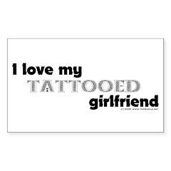 Tattooed Girlfriend Rectangle Decal