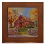 Country Cobblestone Framed Tile