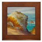 Rocks at Point Lobos Framed Tile