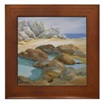 Rocks and Tide Pool Framed Tile