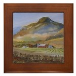 God's Country Framed Tile