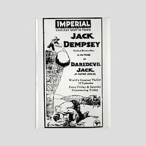 Jack Dempsey Daredevil Jack Rectangle Magnet