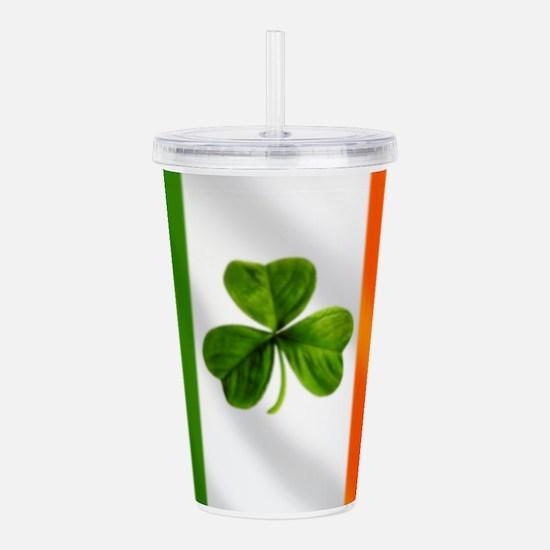 Irish Shamrock Flag Acrylic Double-wall Tumbler