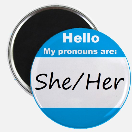 She/Her Pronoun Magnets
