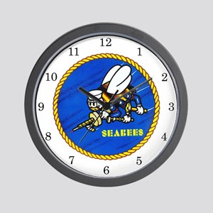 US Navy SeaBees Wall Clock