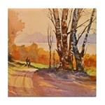 One October Morn Tile Coaster