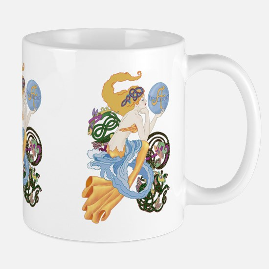celtic a for aquarius mermaid Mugs