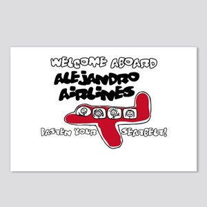 Alejandro Airlines Postcards (Package of 8)