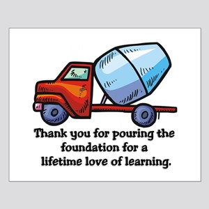 Thank you teacher gifts Small Poster