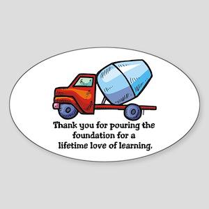 Thank you teacher gifts Oval Sticker