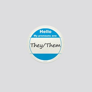 They/Them Pronoun Mini Button