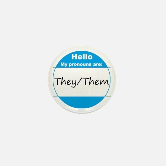 They/Them Pronoun Mini Button