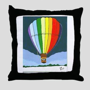 Chama Valley Balloon Rally Throw Pillow