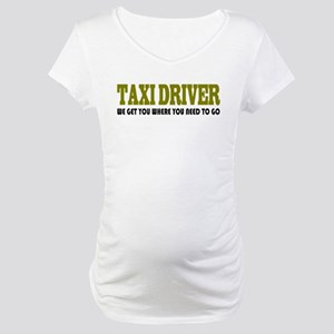 Funny Taxi Driver Maternity T-Shirt