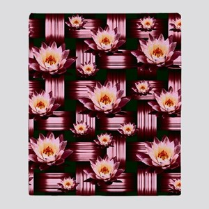 Woven Magenta Lotus Throw Blanket