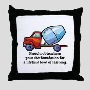 Preschool Teacher Gift Ideas Throw Pillow