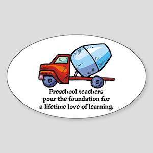 Preschool Teacher Gift Ideas Oval Sticker
