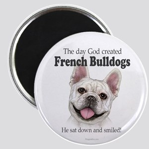God smiled: Cream Frenchie Magnet