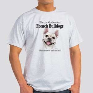 God smiled: Cream Frenchie Light T-Shirt