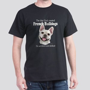 God smiled: Cream Frenchie Dark T-Shirt