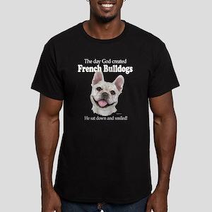 God smiled: Cream Fren Men's Fitted T-Shirt (dark)
