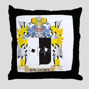 Caldeira Coat of Arms - Family Crest Throw Pillow