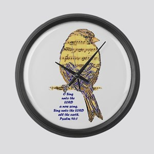 Psalm 96:1 Sing Unto The Lord Large Wall Clock
