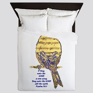 Psalm 96:1 Sing Unto The Lord Song Queen Duvet
