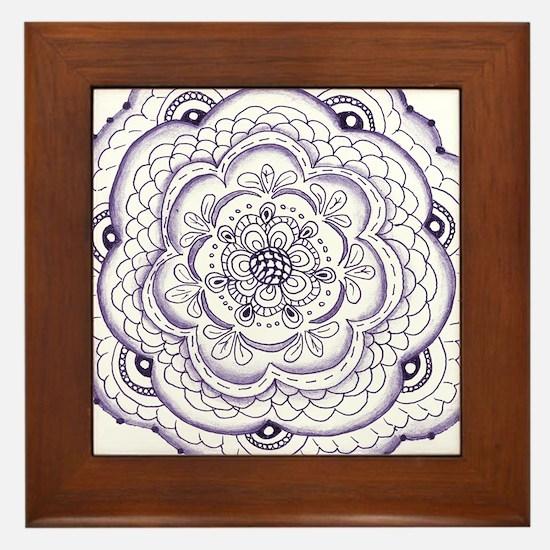 Unique Lace doilies Framed Tile