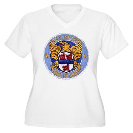 USS MILLER Women's Plus Size V-Neck T-Shirt