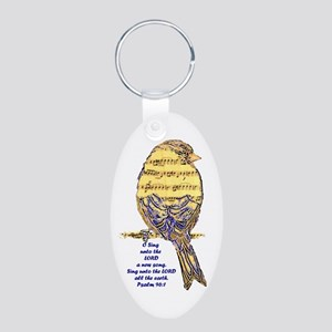 Psalm 96:1 Sing Unto The Lord Song Bird Keychains