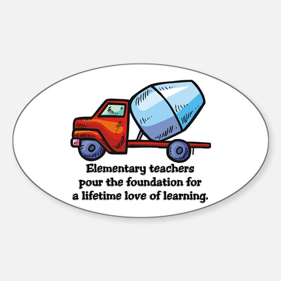 Elementary Teacher Gifts Oval Decal