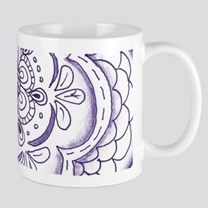Purple Flower Hand Drawn Original Art Mugs