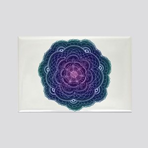 Purple and Blue Lace Flower Magnets