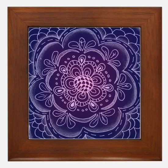 Funny Lace doilies Framed Tile