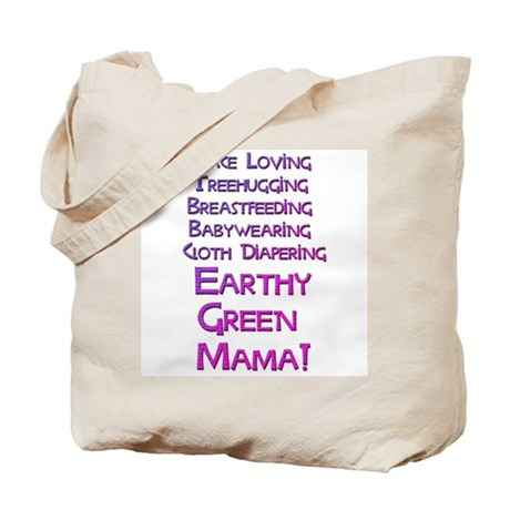 Earthy Green Mama Tote Bag
