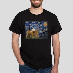 Starry Night & 2 Wheatens Dark T-Shirt