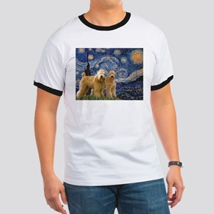 Starry Night & 2 Wheatens Ringer T