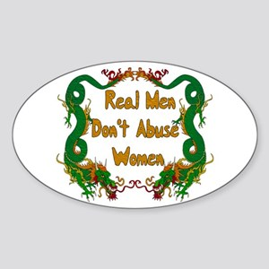 Ending Domestic Violence Oval Sticker