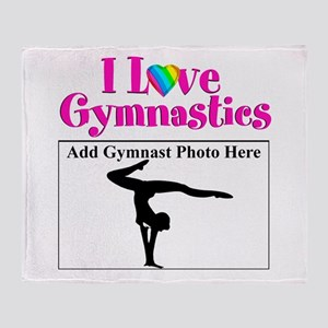 GYMNAST LOVE Throw Blanket