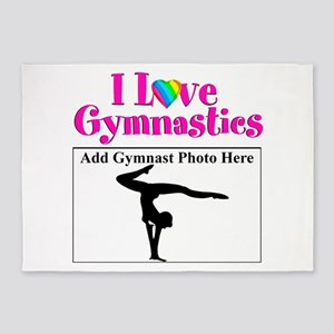 GYMNAST LOVE 5'x7'Area Rug