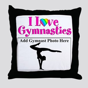 GYMNAST LOVE Throw Pillow