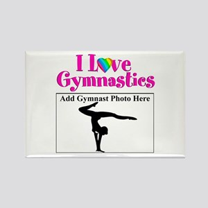 GYMNAST LOVE Rectangle Magnet
