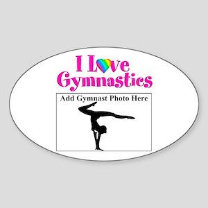 GYMNAST LOVE Sticker (Oval)
