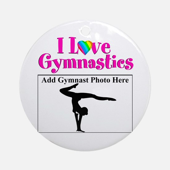 GYMNAST LOVE Ornament (Round)